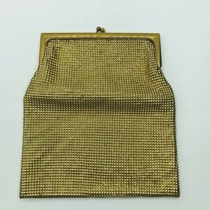 Whiting and Davis Chain Mail Pin On Metal Purse